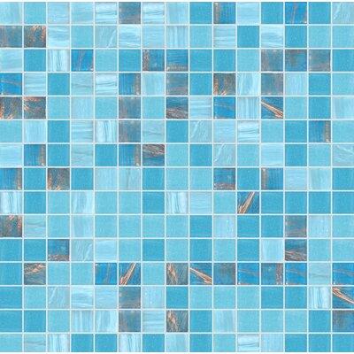 Standard Mix 13 x 13 Glass Mosaic Tile in Semi-Gloss Blue