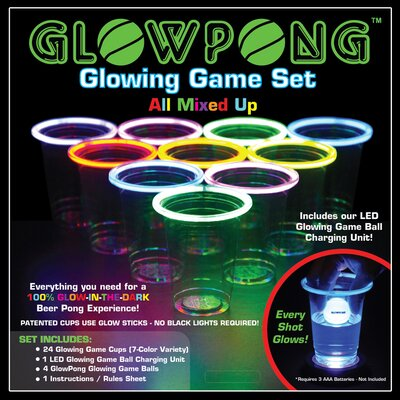 Glowing Game Set GLOWPONGGameSetMixed