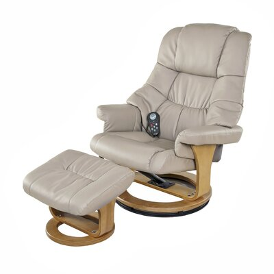 Plush 8 Motor Leisure Massage Chair with Ottoman