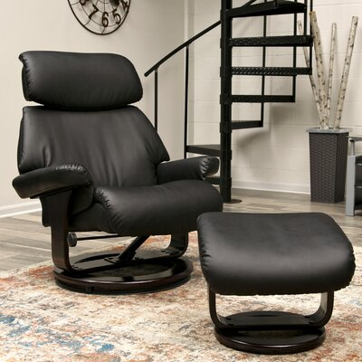 Bressler Classic Recliner with Ottoman