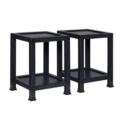 Diederich End Table Color: Black