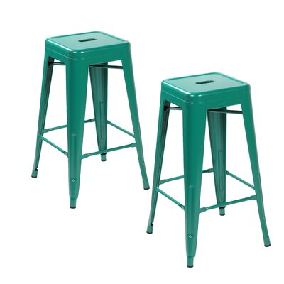 26.4 inch Bar Stool Finish: Matte Green