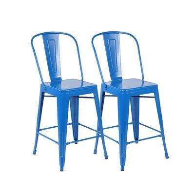 26 Bar Stool Color: Bright Deep Blue