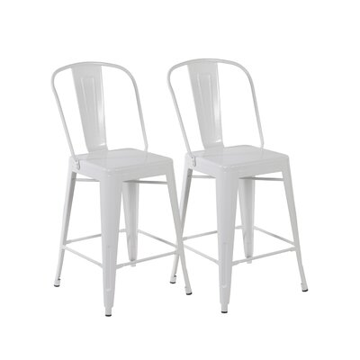 26 Bar Stool Color: Matte White