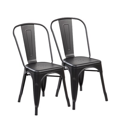 Side Chair Color: Matte Black