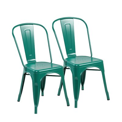 Side Chair Color: Matte Green