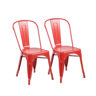 Side Chair Color: Matte Red