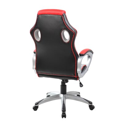 Finish Line Red High-back PU Executive Racing Style Swivel Gaming Chair