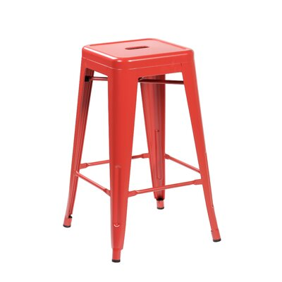 26.4 Bar Stool Color: Matte Red