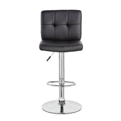 24.7 Swivel Bar Stool Upholstery: Black