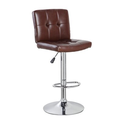 24.7 Swivel Bar Stool Upholstery: Brown
