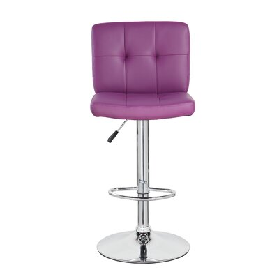 24.7 Swivel Bar Stool Upholstery: Purple