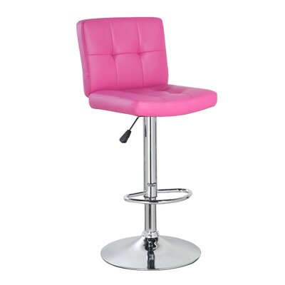 "Image of 24.7"" Swivel Bar Stool Upholstery: Purple/Red"