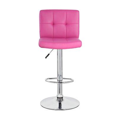 24.7 Swivel Bar Stool Upholstery: Purple/Red