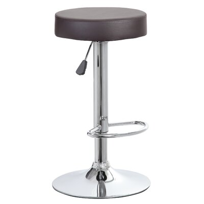 Vandusen Adjustable Height Swivel Bar Stool Color: Black