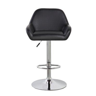 Agne 25 Swivel Bar Stool Color: Black