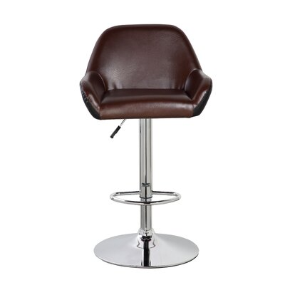 Agne 25 Swivel Bar Stool Color: Brown/Black