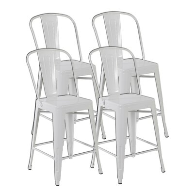 Counter Height Side Chair Finish: Matte White