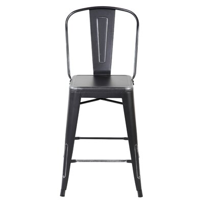 Dining Chair Color: Antique Black Silver