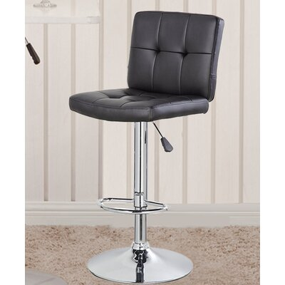 24.7 inch Swivel Bar Stool Upholstery: Black