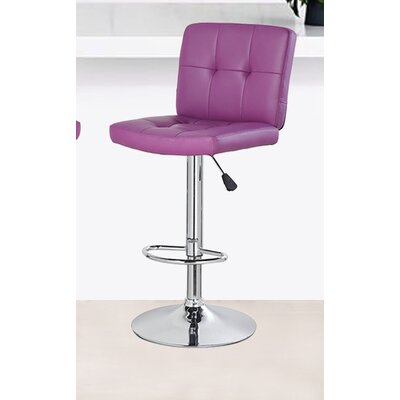 24.7 Swivel Bar Stool Upholstery: Purple