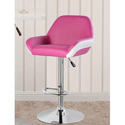 25 Swivel Bar Stool Upholstery: Purple/Red/White