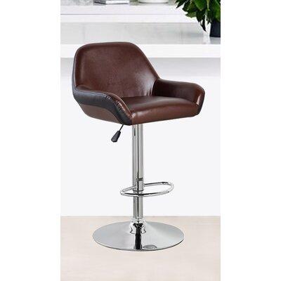 25 inch Swivel Bar Stool Upholstery: Brown/Black