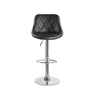 Bello Height Adjustable Swivel Bar Stool Color: Purple/Black