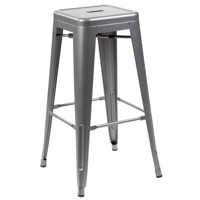 Gerrard 26.4 Dining Bar Stool Finish: Matt Silver