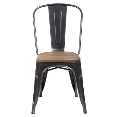 Janeen 33.5 Bar stool Finish: Antique Black Brushing