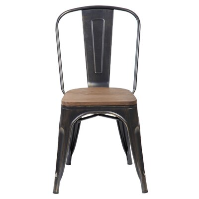 Janeen 33.5 Bar stool Finish: Antique Golden Brushing