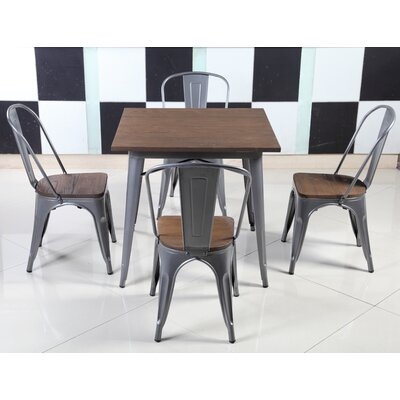 Felisa Dining Table Color: Matte Silver