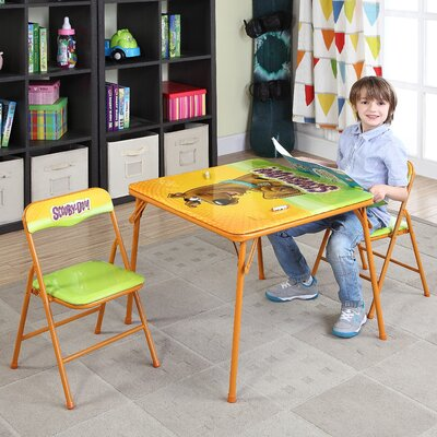 Scooby Doo Kids' 3 Piece Square Table and Chair Set 0142008