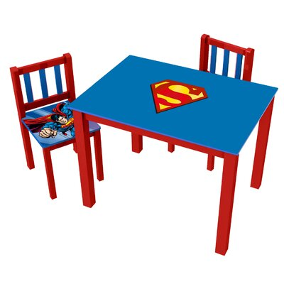 Superman Kids' 3 Piece Rectangle Table and Chair Set 0122002