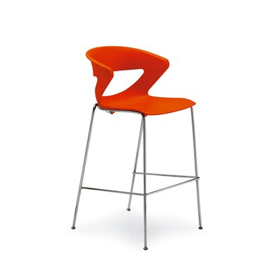 Kicca 39.75 Bar Stool Color: Orange