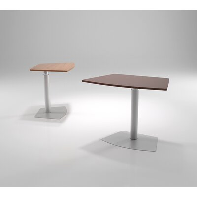 37.5 L x 24 W Fixed Table Base Finish: Sparkle Silver, Top Finish: Java Oak