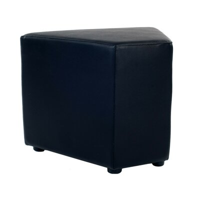 Corner Leather Ottoman Color: Black