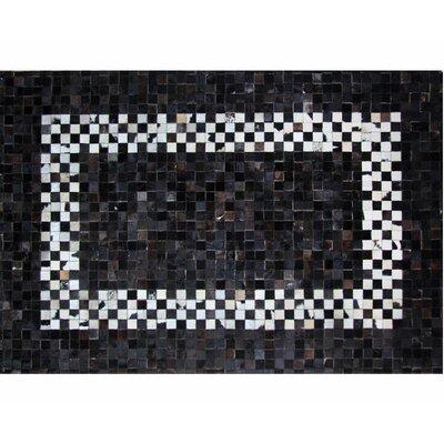 Black Area Rug Rug Size: 56 x 76