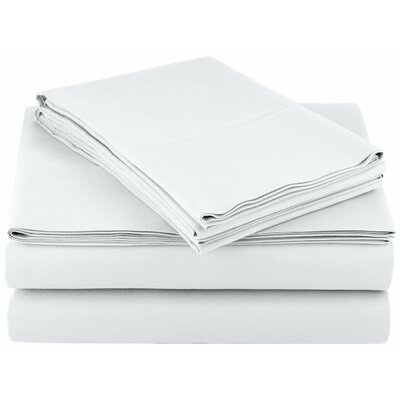 Solid Hotel 200 Thread Count Sheet Set Color: Ivory, Size: Queen