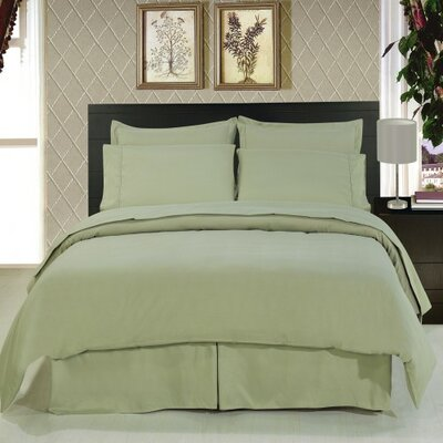 Solid Hotel 200 Thread Count Sheet Set Color: Sage, Size: Full