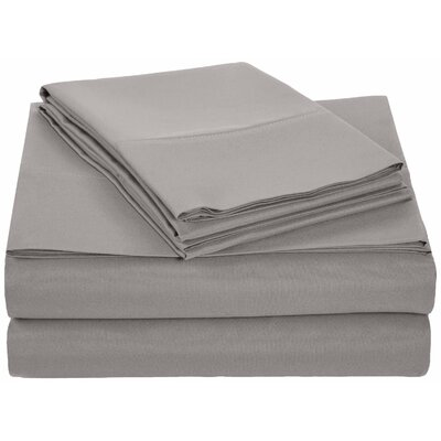 Solid Hotel 200 Thread Count Sheet Set Color: Grey, Size: Twin