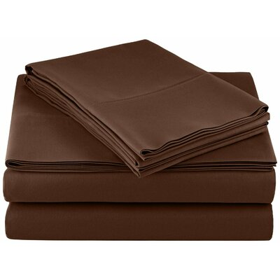 Solid Hotel 200 Thread Count Sheet Set Color: Brown, Size: Full