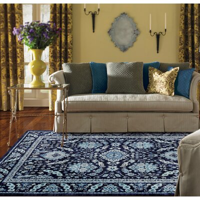 Swansea Indigo Area Rug Rug Size: Rectangle 35 x 55