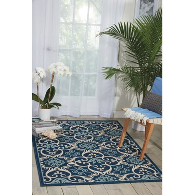 Carleton Navy Indoor/Outdoor Area Rug Rug Size: Rectangle 311 x 511