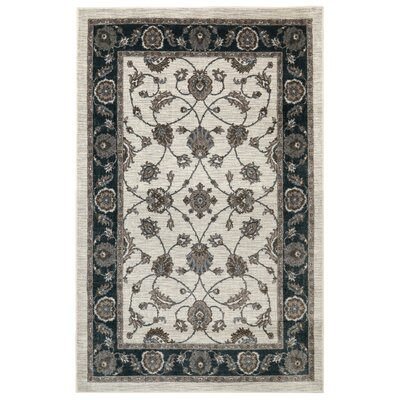 Millstone Cream/Black Area Rug Rug Size: Rectangle 8 x 10