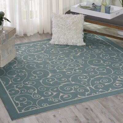 Wright Light Blue Indoor/Outdoor Area Rug Rug Size: Square 66 x 66