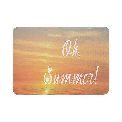 Alison Coxon Oh, Summer! Coastal Memory Foam Bath Rug Size: 0.5