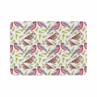 Alisa Drukman Sparrow and Bullfinch Memory Foam Bath Rug Size: 0.5 H x 24 W x 36 D