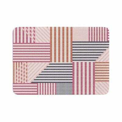 Pellerina Design Mod Linework Magenta Geometric Memory Foam Bath Rug Size: 0.5 H x 17 W x 24 D