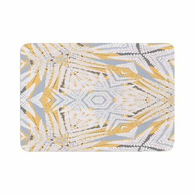 Alison Coxon Planthouse Raspberry Memory Foam Bath Rug Size: 0.5 H x 24 W x 36 D, Color: Yellow